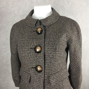 Short Tweed Jackie O. big buttons crop jacket